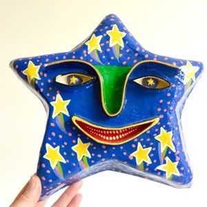 Gina Truex Paper Mache Colorful Star Wall Decor